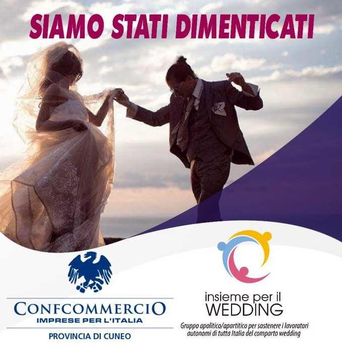 Venerdì 26 a Cuneo la manifestazione di chi lavora per i matrimoni: «Siamo stati dimenticati»