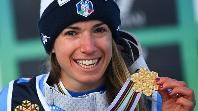 Oro alla piemontese Marta Bassino nel parallelo femminile dei Mondiali di sci