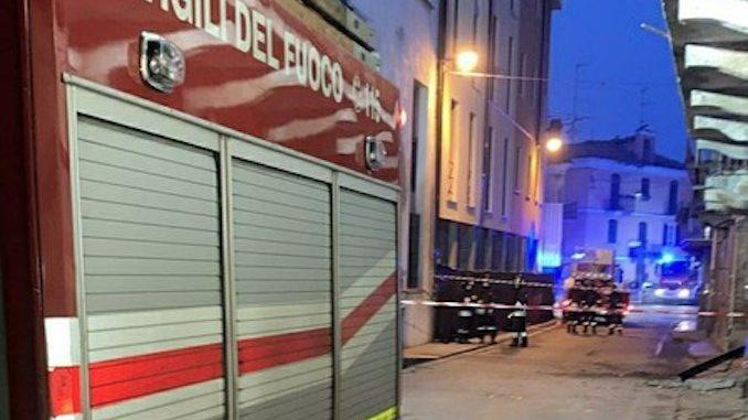 Crolla edificio, paura a Nizza Monferrato ma nessun ferito