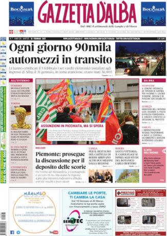 La copertina di Gazzetta d'Alba in edicola martedì 16 febbraio