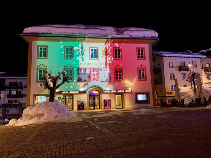 Proietta di Avigliana illumina Cortina per i mondiali 2021 di sci alpino  (FOTOGALLERY) 2