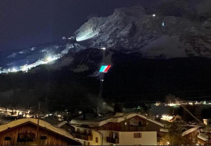 Proietta di Avigliana illumina Cortina per i mondiali 2021 di sci alpino  (FOTOGALLERY) 4