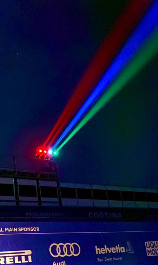 Proietta di Avigliana illumina Cortina per i mondiali 2021 di sci alpino  (FOTOGALLERY) 5