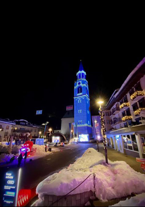 Proietta di Avigliana illumina Cortina per i mondiali 2021 di sci alpino  (FOTOGALLERY) 6