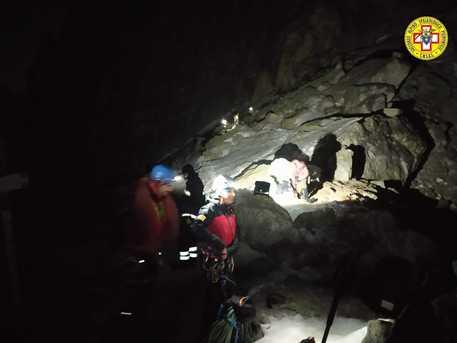 Recuperato nella notte alpinista caduto sulle Alpi cuneesi