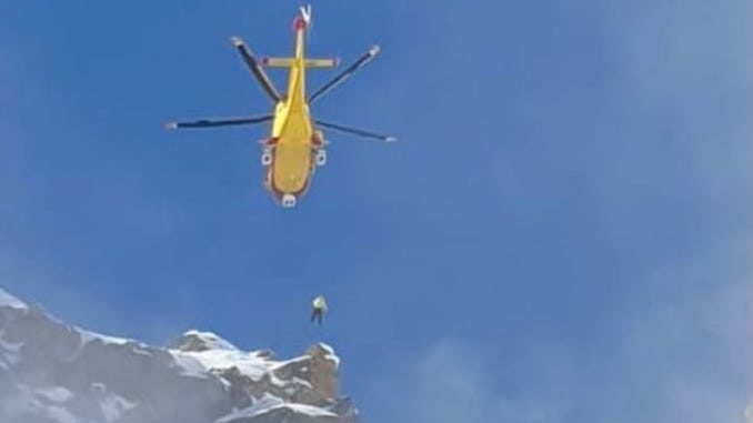 Due interventi del Soccorso alpino in Valsesia in provincia di Vercelli