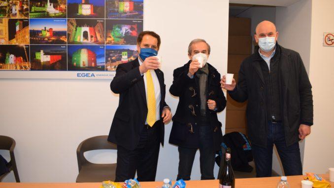 Egea: amministratori di Bra e Cherasco in visita al nuovo sportello di Bra