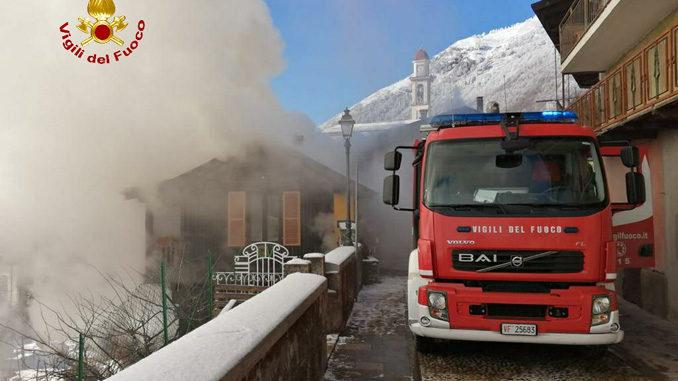 In fiamme un'abitazione nel comune di Valdieri