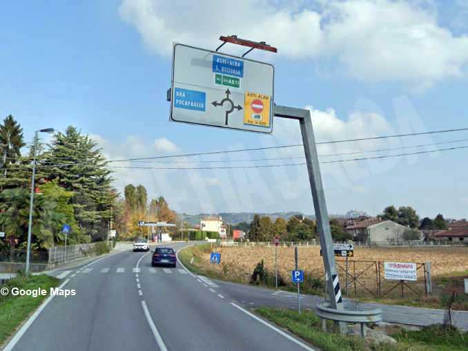 pollenzo cartello stradale