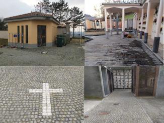 Lavori di abbattimento barriere architettoniche presso il cimitero di Monchiero