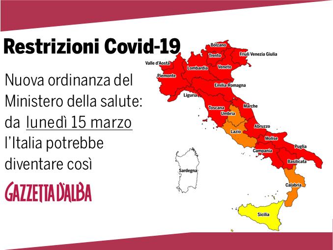 L'Italia sta per diventare, in gran parte, zona rossa