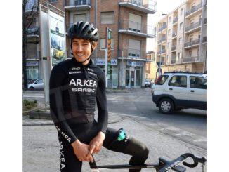 Per Diego Rosa allenamenti sulle strade di casa in vista del Trofeo Laigueglia di mercoledì