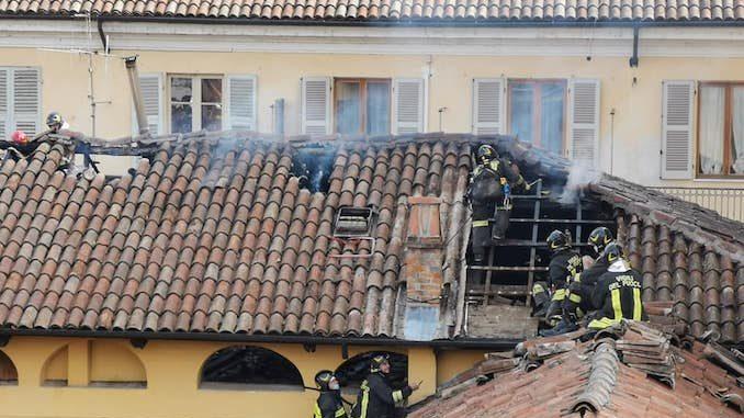 Incendio in via Alfieri a Canelli