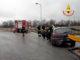 Auto esce di strada in frazione Mellea a Fossano