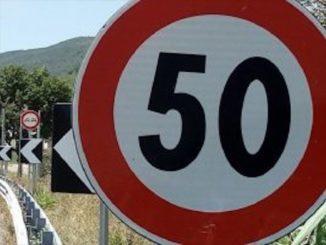 Limite di velocità tra la stazione di Carrù e il sottopasso verso Farigliano