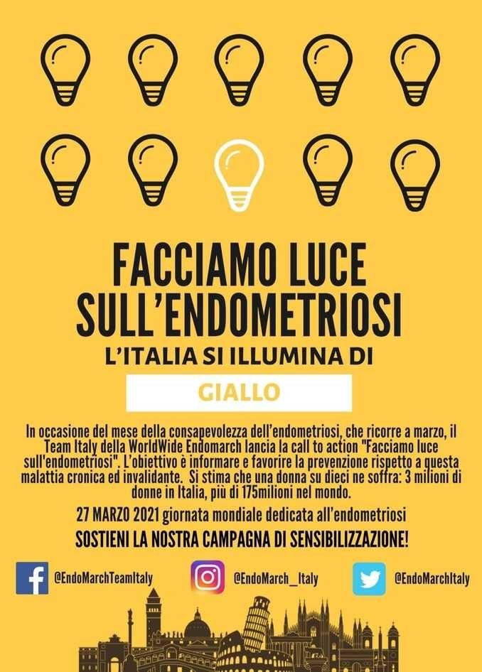 Alba: le torri si illuminano di giallo per la Giornata mondiale dell'endometriosi