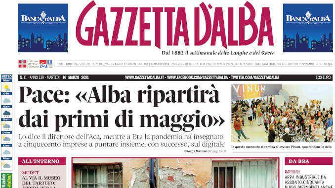 La copertina di Gazzetta d'Alba in edicola martedì 16 marzo