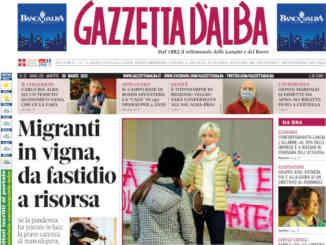 La copertina di Gazzetta d'Alba in edicola martedì 30 marzo