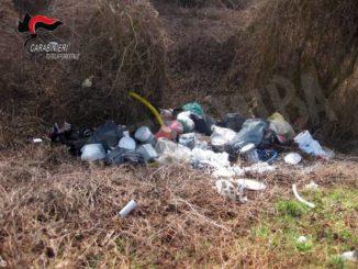 Rifiuti abbandonati individuati dai Carabinieri forestali a Montaldo Roero