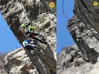 Recuperato escursionista illeso, su uno strapiombo della strada Ferrata di Pont Canavese