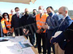 Il sottosegretario ai Trasporti Morelli in visita ai cantieri dell