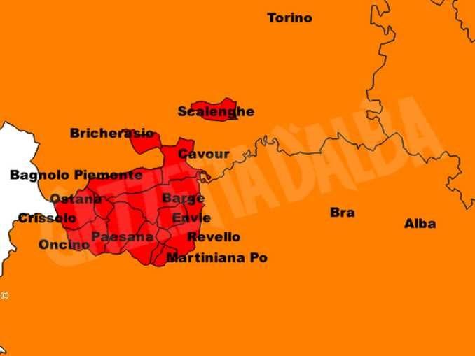 In Piemonte altri 14 comuni in zona rossa