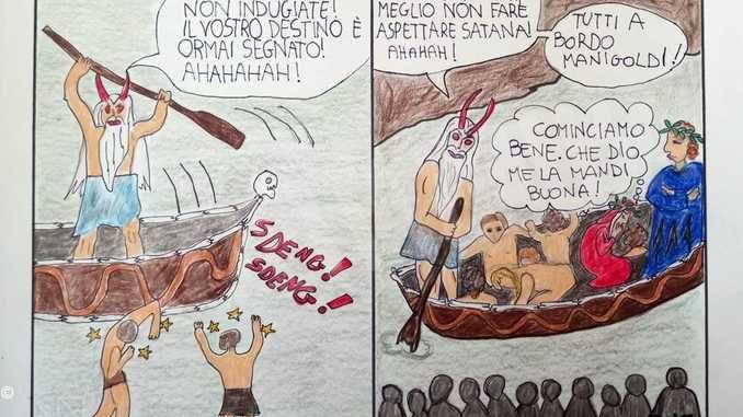 Gli alunni della secondaria di Dogliani hanno celebrato Dante con la Divina commedia a fumetti 2
