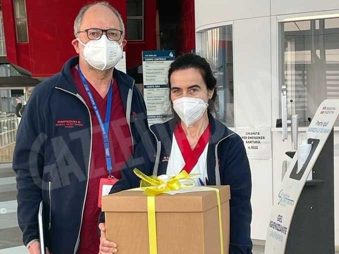 Praline per dire grazie agli operatori sanitari impegnati nell'emergenza sanitaria 1