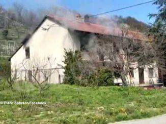 In fiamme un'abitazione a Vaccheria: intervengono i Vigili del fuoco