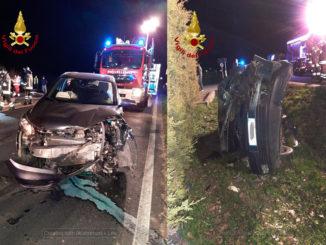 Scontro frontale tra due auto a San Giovanni Perucca di Trinità, nessun ferito grave