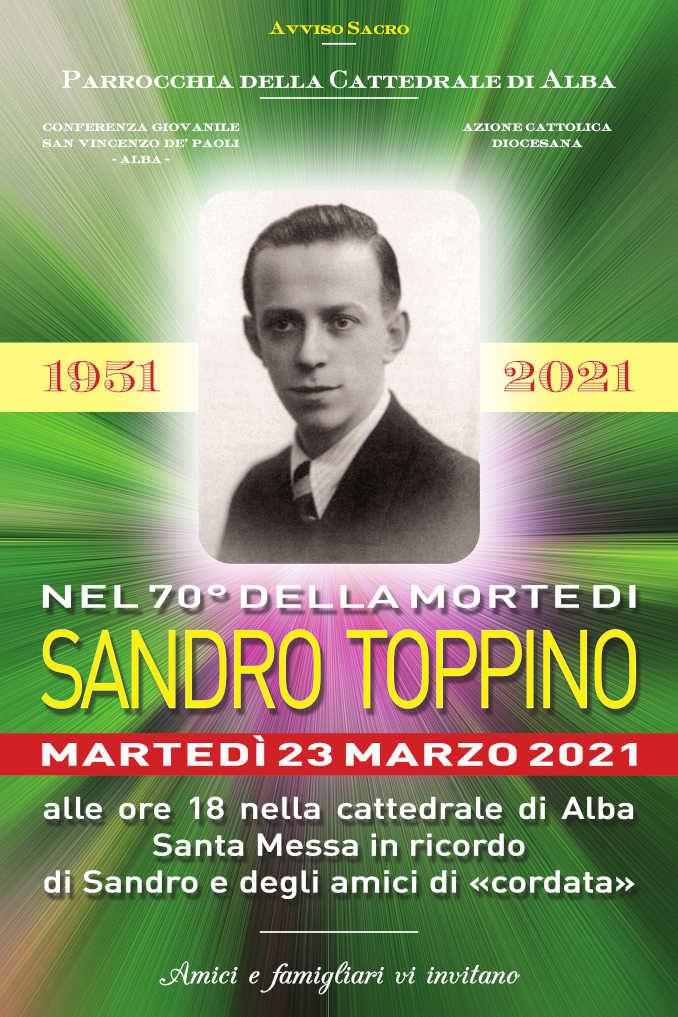 Martedì 23 nel duomo di Alba si ricorda Sandro Toppino
