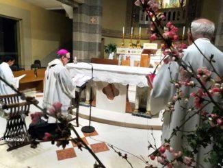 Il vescovo Brunetti celebra Messa al santuario della Moretta per le vittime della pandemia