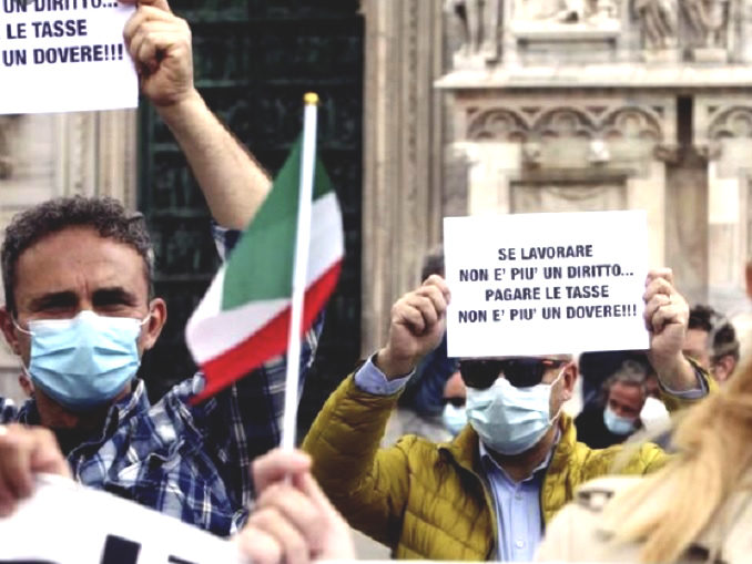 Crisi, bloccare la scadenza delle tasse fino alla fine2021: un Flash Mob di protesta, il 17 marzo in molte citta italiane