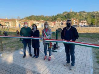 Santo Stefano Belbo inaugura l'area fitness sul lungo Belbo 1