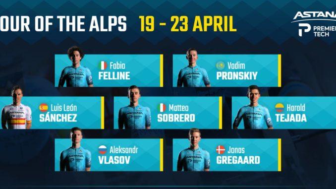 Sobrero si stacca nella tappa inaugurale del Tour of the Alps