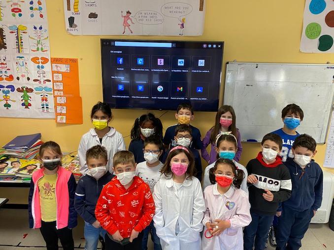 Castelletto Uzzone donato un televisore alla scuola primaria