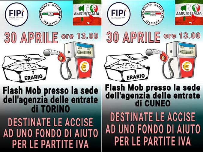 Flash mob – 30 aprile 2021 – Agenzia delle Entrate Torino – Cuneo