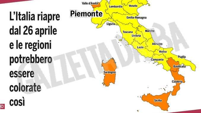 Questa sera si decidono i colori: Italia tutta gialla o arancione