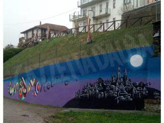 Grazie al liceo artistico il muro di via Roma a Rodello ha cambiato volto 1