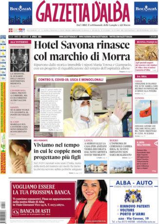 La copertina di Gazzetta d'Alba in edicola sabato 3 aprile