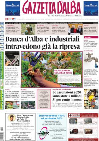 La copertina di Gazzetta d'Alba in edicola martedì 13 aprile
