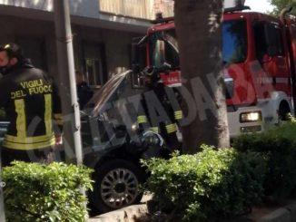 Finisce con l'auto contro un albero: lievemente ferito un automobilista