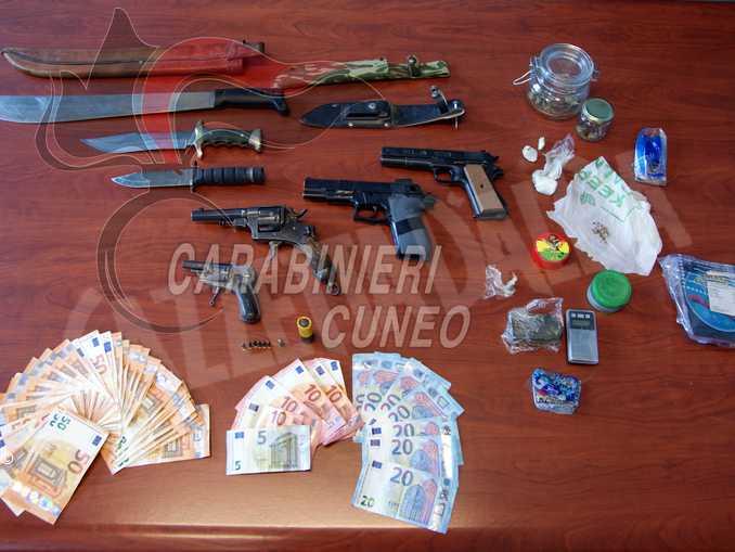 droga e armi Mondovì e Ceva