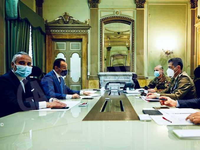 incontro presidente Cirio-generale Figliuolo 2