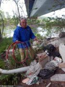 I rifiuti al lago San Biagio di Alba 3