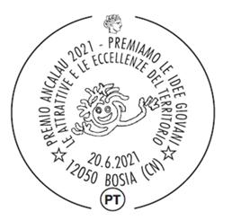 Poste Italiane: annullo filatelico speciale  per il Premio Ancalau 2021