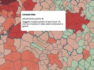 Coronavirus: a Ceresole d'Alba i contagi scendono a cinque