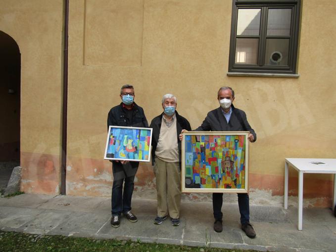 Fabio Bailo, Gian Maria Lamberti, Gianni Fogliato (quadri donati dall'artista)