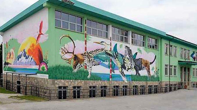 A Madonna dell'Olmo il murales gigante di Inea Cruz