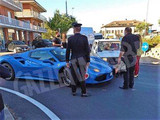 Ferrari si scontra contro una Fiat Panda in località Vaccheria 1